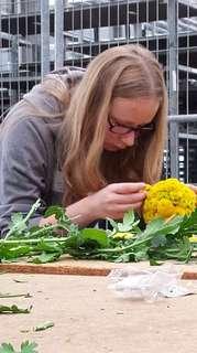 Florist-Azubi WarmUpTag auf dem Blumengrossmarkt Düsseldorf