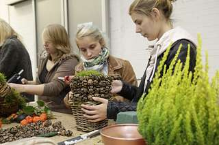 Workshops mit Julia Erven auf dem Blumengrossmarkt Düsseldorf